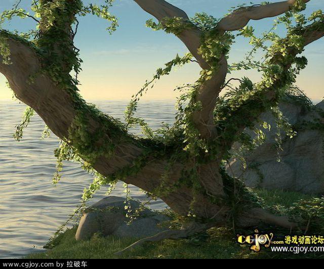 3DMax藤蔓生長插件Guruware Ivy For 3dsmax中英文版本