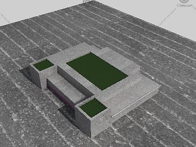 景观坐凳3D模型