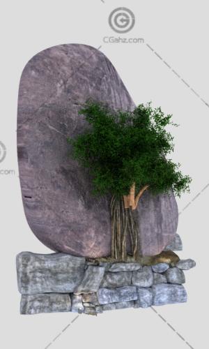 景观石3D模型