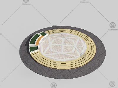圆形景观小广场3D模型