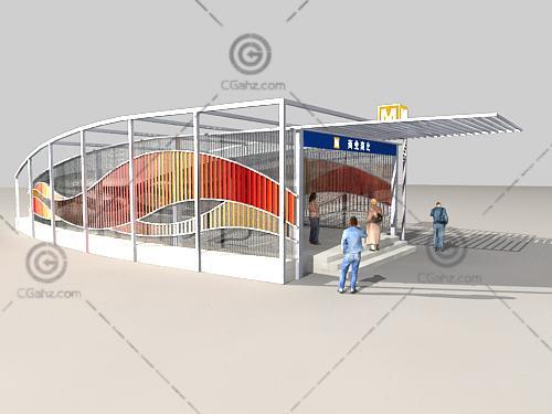 地下商业入口3D模型