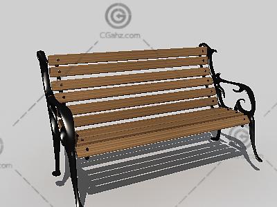 铁艺长椅3D模型