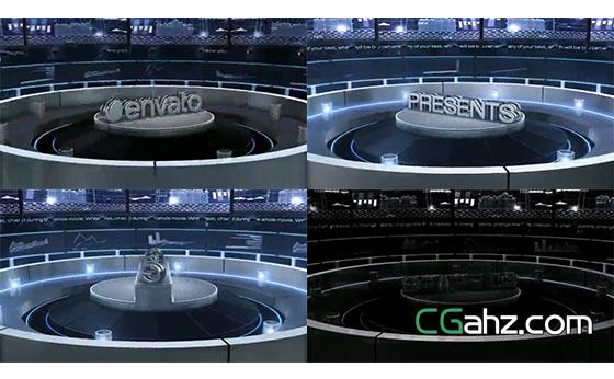 金融中心展台上展示的3D标题AE模板