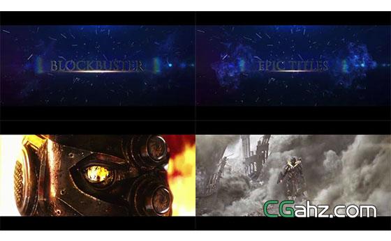 史诗大片般的3D字幕电影预告片AE模板