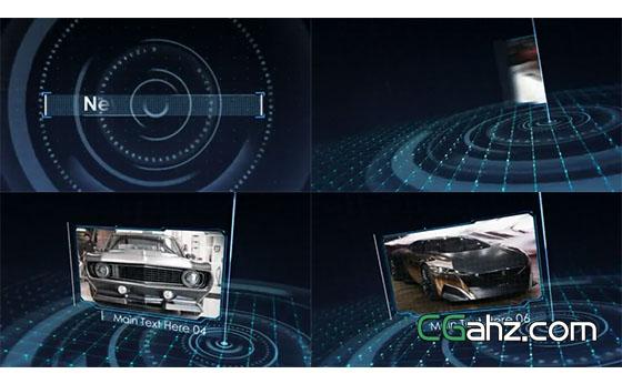 未来派高新技术网格空间内容展示AE模板