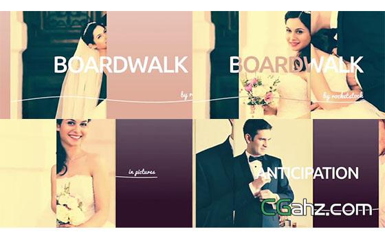 拥有缤纷活力的婚礼图片平滑展示AE模板