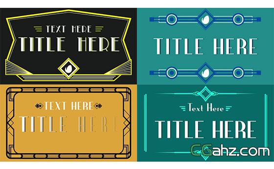 简单复古的艺术装饰标签AE模板