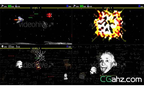 模拟像素游戏的创意标志开场动画AE模板