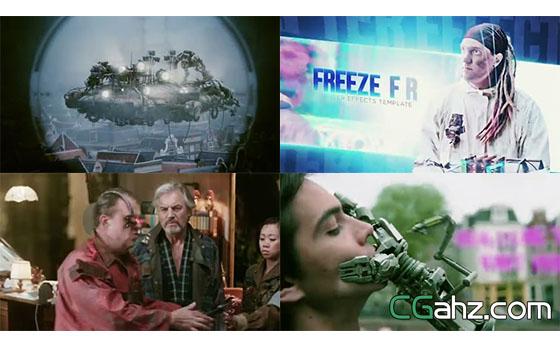 某一对象的单帧冻结特效电影预告片AE模板