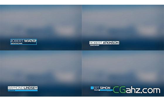 简单线条人名字幕条动画AE模板