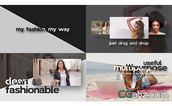 简洁的文字标题动画展示AE模板