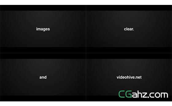 快闪文字标题图片展示片头AE模板