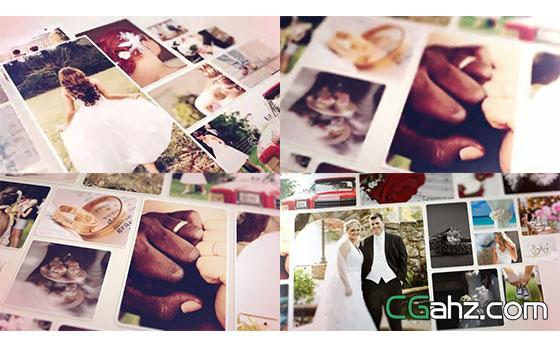 婚礼相册图集AE模板