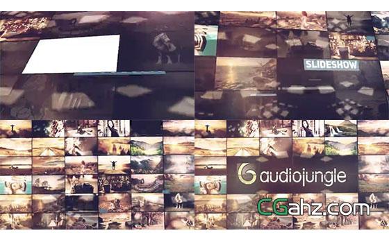 格子图片组合墙开场片头AE模板