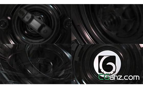 硬质质感镜头的logo揭示开场AE模板