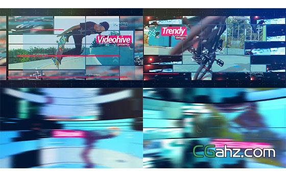 动感时尚体育视频片头展示AE模板