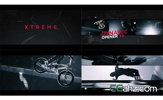 时尚炫酷的极限运动主题片头AE模板