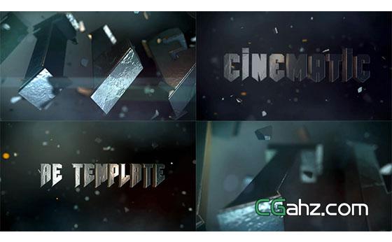 大气三维文字标题宣传片展示AE模板
