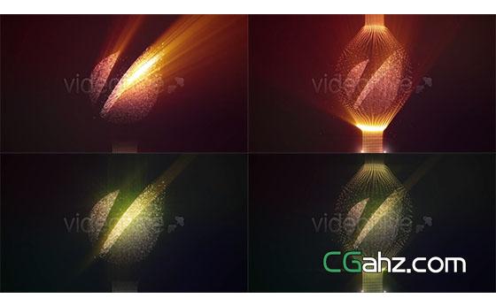 粒子光线闪耀Logo动画展示AE模板