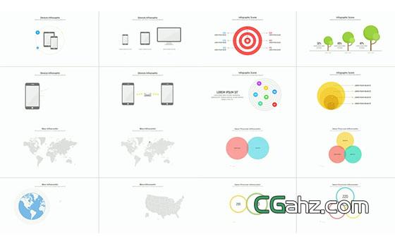创意数据分析图表大全AE模板