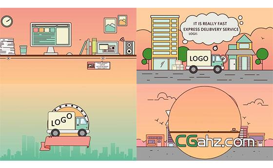卡通风格产品推广动画AE模板