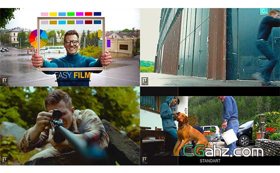 专业电影胶片色彩变化展示AE模板