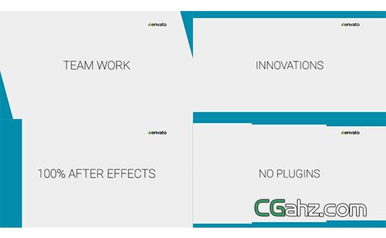 简洁图形公司企业视频转场AE模板