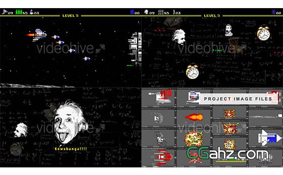 复古街机游戏Logo展示AE模板