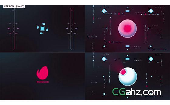 创意图形眼睛MG动画展示AE模板