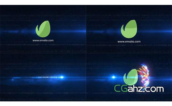 流光炫彩logo揭示特效AE模板
