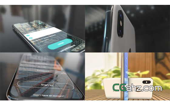 Phone X手机APP宣传推广AE模板