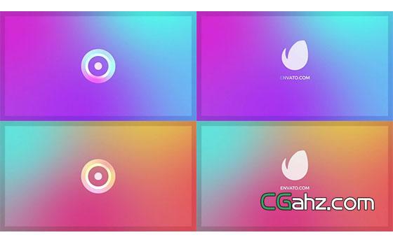 色彩柔和舒适的标志演绎动画AE模板