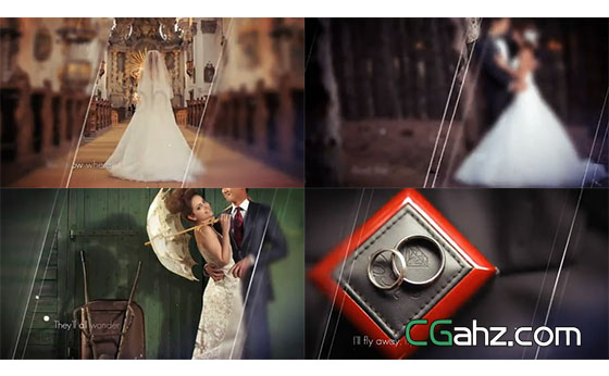 唯美优雅婚礼微电影记录AE模板