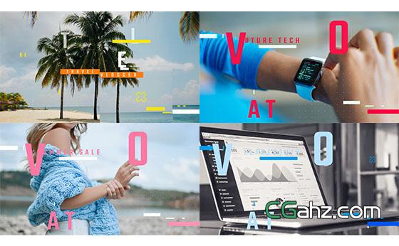 网络图片视频宣传包装展示AE模板