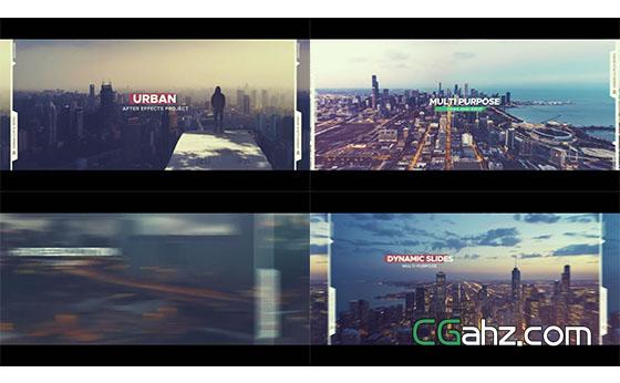 动感城市介绍宣传片展示AE模板