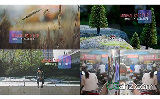 简洁旅游风景景点宣传AE模板