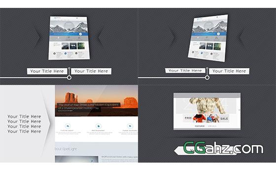 简洁的网站介绍AE模板