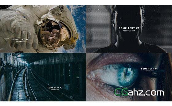 数字科技感幻灯片展示片头AE模板