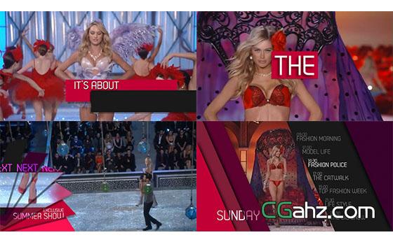 时尚模特服装展电视包装AE模板