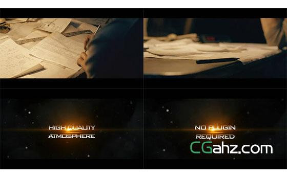 与影片交叉展示的震撼电影预告片AE模板