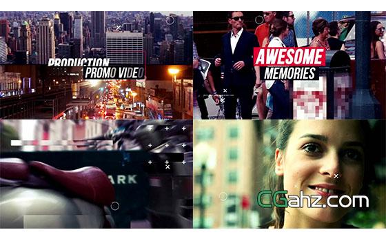 动感城市宣传片开场展示AE模板