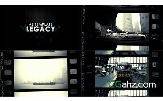 电影胶片宣传片AE模板