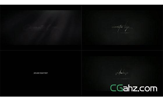 浓雾中电影大片般的标志或标题展示AE模板