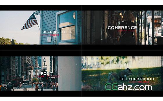 时尚纪录片视频开场片头展示AE模板