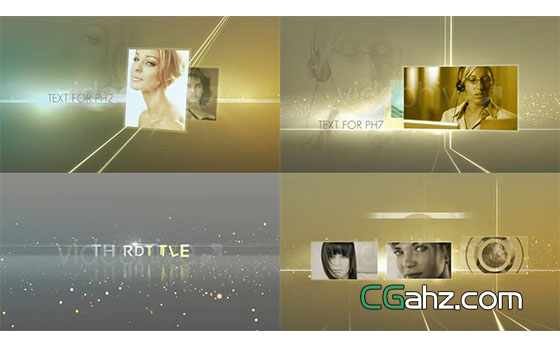 奢华金色粒子光线时尚图片片头展示