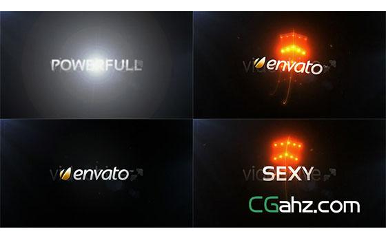 光线三维文字Logo展示AE模板