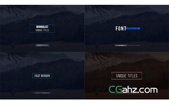 简单的文字标题动画展示AE模板