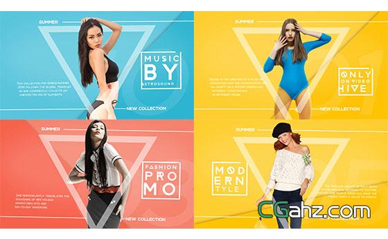时尚人物模特商品展示宣传片开场AE模板