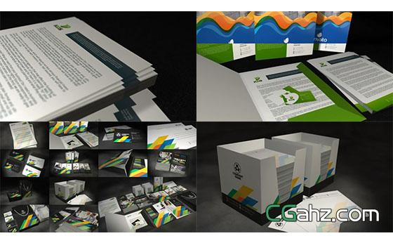 宣传册等VI相关的包装设计套件AE模板