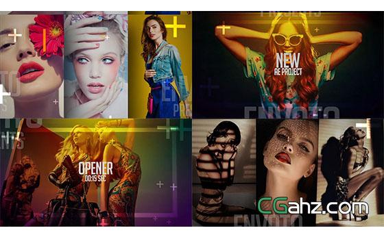 时尚杂志图片开场宣传片展示AE模板